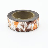 Wholesale Selling Decorative Tape - Wholesale- 2016 (1pc Sell) Foil Washi Tape Set Japanese Stationery Scrapbooking Decorative Tapes Adhesive Tape Kawai