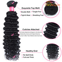 Vente en gros 4Bundles 100g / pcs Deep Curly Wave Brazilian peruanian Malaysian Virgin Hair Weave Cheap Deep Curl Extensions de cheveux humains brésiliennes