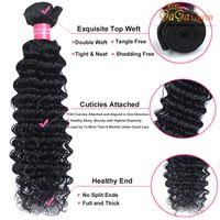 Wholesale malaysian deep curl hair weave online - Bundles g Deep Curly Wave Brazilian Peruvian Malaysian Virgin Hair Weave Cheap Deep Curl Brazilian Human Hair Extensions