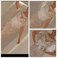 Wholesale New Style Mermaid Evening Gown - New Style 2017 Beading Crystal Prom Dress High Neck Evening Dresses Sexy New Evening Gowns Long Formal Prom Dress