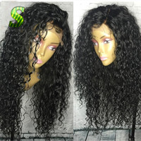 Wholesale hair strap baby for sale - Group buy Side Part Lace Front Black Women Long loose Curly Synthetic Wig Baby Hair Glueless Heat Resistant Lace Wig Combs Straps