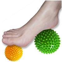 boules de tissu de couleur achat en gros de-Boule de massage - Spiky pour le pied profond de tissu, dos, fasciite plantaire partout dans la couleur aléatoire de thérapie de tissu profond de tissu