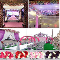 Wholesale Decoration For Hotel Wall - 1 Set artificial flower row DIY silk flower wedding arch road lead all various types decoration for home hotel party decor DIY