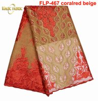 Wholesale Beaded Embroidered Fabric - High Quality African Laces Fabrics Embroidered African French Lace Fabric With Beaded 2017 African French Net Lace FLP-467