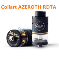 Wholesale Compare Free - NEW CoilArt Azeroth RDTA Atomizer 24MM Diameter Clone 4ML Big E-Juice Capacity compared with Coilart GTA RTA tank DHL free