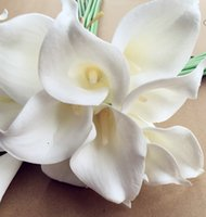96PCS / LOT NATUREL / REAL TOUCH PU FLEURS CALLA LILY POUR WEDDING / BRIDAL BOUQUETS