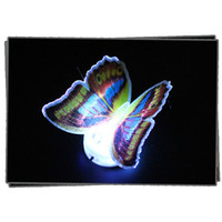 Wholesale Kids Butterfly Lamp - Wholesale- 6pcs lot Beautiful Cute Butterfly 7 Color Changing LED Night Light Baby Kids Room Wall Light Lamp Lamparas Luminarias Lampe
