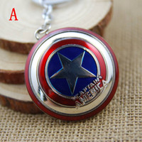 Hot Sale Movie The Avengers America Captain Shield Pendentif Porte-clés en alliage Key Chain Keyrings Wholesale