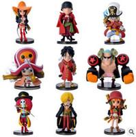 juguetes calientes luffy al por mayor-HOT 9 UNIDS Set de Una Pieza Luffy Zoro Sanji Nami Figuras de Acción Muñeca de Alta Calidad PVC Anime Juguetes Decoración Del Hogar Envío Gratis