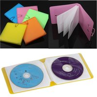 Wholesale Dvd Cases Double - Wholesale- Nice 12 Plastic CD DVD Disc Double Sleeve Holder Clear Storage Case Package