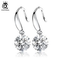 Wholesale Beautiful Naked Women - ORSA JEWELS Shining Naked Drill Earring Genuine Austria Cubic Zircon Very Beautiful Earring for Women OE05