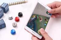 iphone emici toptan satış-Evrensel oyun joystick oyunları yön rocker denetleyici mobil joystick iPhone cep oyun denetleyicisi için tekrar kullanılabilir ekran enayi kolları