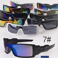 ingrosso moda nuova occhiali-MOQ = 10 PZ New Fashion Colorful Popolare Vento Ciclismo Specchio Sport All'aperto Occhiali Occhiali Da Sole Per Le Donne Uomini Occhiali da sole libera la nave