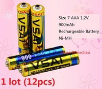 Wholesale Rechargeable Volt Batteries - 12pcs 1 lot Size 7 AAA 1.2V 900mAh Ni-MH Rechargeable Battery 1.2 Volt Ni MH batteries free shipping