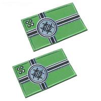 drapeaux de broderie gratuits achat en gros de-broderie drapeau kek patch tissu patchs tactiques boucles à boucles crochet brassard armée badge de combat navire gratuit