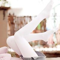 Wholesale Pantyhose Japanese - Wholesale- New Japanese Style Velvet White Silk Women Tights Stockings Spring And Autumn Ballet Dance Stocking Fashion Female Pantyhose