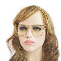 Wholesale Europe Star Round Sunglasses - Wholesale-Fashion Europe and America sunglasses Women Glasses Plain big box UV protection star models 81098