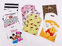 Wholesale Hand Bag Store - Wholesale 100pcs Lot Big Medium Small Size Plastic Packaging Bags Clothing Gift Store Portable Bag Retail Many Designs Hand Fashion Bags