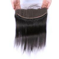 saçlı ön kapak toptan satış-Tam Frontal Dantel Kapatma 13x4