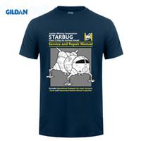 Wholesale Custom Design Tshirt - Short Sleeve Thanksgiving Day Custom Red Dwarf Starbug Service And Repair Manual Tee Shirts Photo Family 3XL Design For Tshirt