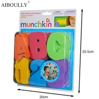 Wholesale Eva Machine - 36-Piece MunchkinS Child Puzzle Baby Toy EVA Bath Alphanumeric Letters Numbers Bathroom Water Toys Early Educational Kid Toy