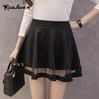 Wholesale Peplum Korea - Raodaren Women Skirt Elastic Short Dress Faldas Ladies Midi Skirt Sexy Girls Mini Pleated Skirts Saias Korea Clothes