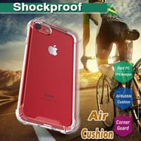 Wholesale Acrylic Cushion Covers - Air Cushion Shockproof Protective Cushion Corner Transparent TPU Acrylic Back Cover Case For iPhone 8 7 Plus 6 6S 5S 5 Samsung S8 S7 Edge