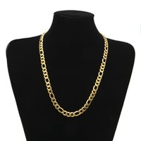 Wholesale Hiphop Diamond Jewelry - Chunky HipHop Gold Chain for Men Jewelry Wholesale Gold Plated Thick Heavy Chaine Necklace Bijoux Homme