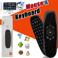 Mini Keyboard C120 T10 Controlador de controle remoto sem fio Controller 6 Gyroscope 2.4GHz Air Mouse para MXQ Pro M8S Mini MX TV Box Retail Package