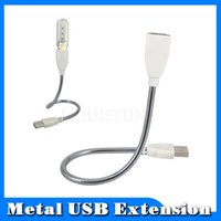 Wholesale Gooseneck Stand - Wholesale-Newest Molds USB 2.0 A Male to Female Extension Gooseneck Flexible Metal Stand Cable