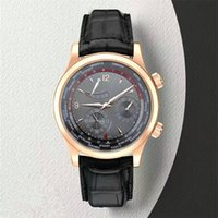 Wholesale watch world time online - New Listing World Time Zone TOP Luxury Mens Watches Energy Storage Multifunction Mechanical Movement Waterproof Luxury Wristwatch