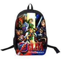 Wholesale Masks For Boys - Wholesale- The Legend of Zelda Backapck For Teenagers Majoras Mask Backpack Sword Shield Boys Girls School Backpacks Men Women School Bags