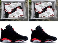 Wholesale Embroidered Lace Material - New 6S Hare mens basketball shoes Retro VI 6 infared 3m material outdoor sports trainer sneaker size 41-47