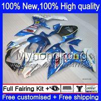 Wholesale Gsxr New Fairings - Body Blue white For SUZUKI GSXR600 11 12 13 14 GSX-R750 8Y514 GSXR 600 750 K11 11-14 NEW Blue 2011 2012 2013 2014 Injection Fairing kit
