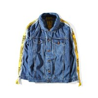 Wholesale Taped Jacket - Vmade Denim Ooversized Tape Cufflinks Canned Denim Jackets Men Tide Brand Loose Jacket Chaqueta Hombre Kanye West