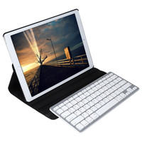 Wholesale Ipad Case Stylus Pen - Wholesale-Wireless Bluetooth Keyboard Stylus Pen 360 Degree Rotating PU Leather Smart Case Cover for iPad Pro 12.9 Inch
