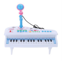 Wholesale Electrical Piano Musical Toys - Multifunctional Mini Electronic 31 Keys Electric Piano Toy with Microphone Child Kids Musical Toys Electrical Keyboard New