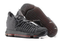 Wholesale Kd Boots - New KD 9 Elite Mens Black Grey Kevin durant KD Basketball Shoes 2017 Summer Knitting Sneakers Blue Red Multicolor kd9 Man Sports Shoes