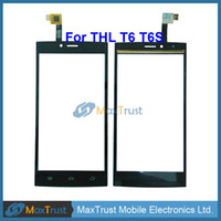 "Wholesale Thl Wholesale - Wholesale- Top Quality 5.0"" For THL T6 T6S T6C T6 Pro Touch Screen Digitizer Front Glass Touchscreen Sensor Replacement Black Color"