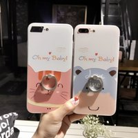 Wholesale Latest Iphone Case Cover - For iphone6s cell phone cases with iphone7 8plus 2017 latest plating ring bracket cartoon two-in-one protective cover free shipping