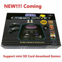 Wholesale Sd Card Videos Tv - For SEGA PAL version Game console bulit in 9 games Support Mini SD Card download Games cartridge MD2 MD 2 TV Video Console 16bit