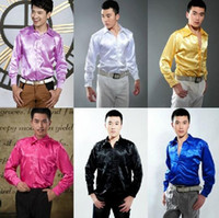 Wholesale opening breast dress resale online - Men s Fashion Luxury Stylish Casual Designer Dress Shirt Cultivate one s morality long sleeve shirt wedding mens Red white dance shirt