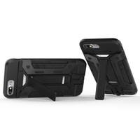 Armor Slide Card Slot Phone Cases для iPhone X 5 6 7 Havy Duty Kickstand Super Cool Чехол для сотового телефона для Iphone Series