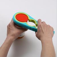 chave de jarro venda por atacado-Ferramentas de cozinha 4 em 1 abridor de latas em forma de cabaça Multiusos de tampa de rosca Abridores de jarras de tampa de garrafa Chave de aperto Acessórios de cozinha