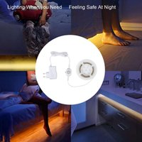 Wholesale Dc 12v Sensor - Motion Activated Under bed Lighting Flexible LED Strip Motion Sensor Night Light Bedside Lamp Illumination and Automatic Shut Off Timer