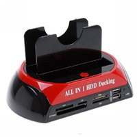 dual sata hdd docking venda por atacado-Estação de Ancoragem para HDD, Ancoragem para HDD, Base Dupla / Dupla de 3,5