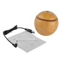 Holz Mini Ultraschall Luftbefeuchter USB tragbare Farbe ändern LED Aroma Diffusor Luftreiniger Aromatherapie Nebel Maker für Home Office
