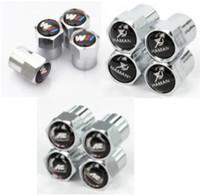 Wholesale Bmw Tire Caps - M Mpower Mini Metal Tire Valve Valves Tyre Dust Cap Caps MT Car Badge Emblem Badges