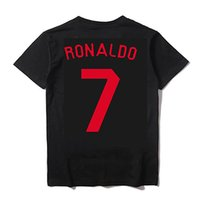 Plus S-4XL Wholesale real madrid 2017 2018 Moda uomo T shirt ASENSIO ronaldo balla messi t shirt uomo movimento CR7 SERGIO RAMOS qualità