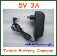 Wholesale Tablet Charger 5v 3a - Wholesale- 10pcs EU US Plug Wall Home Charger 5V 3A Jack 2.5mm   2.5x0.7mm for Tablet PC Power Adapter Supply with 90 Degree Angle Real 3A